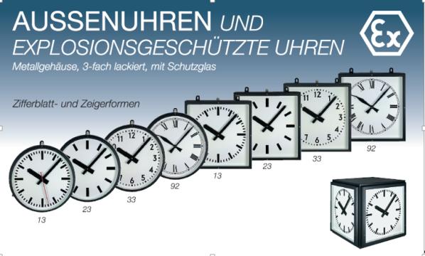 Uhren für draußen, Außenuhren, Wasserdichte Uhr, Wanduhr, Würfeluhr, doppelseitige Uhr