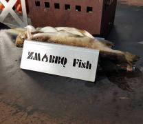 Gartenbank aus Cortenstahl mit Holzauflage