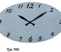 Edelstahl strichpoliert, schwarz hinterlegt, Batteriebetriebene Funkuhr (Batterie ist nicht im Lieferumfang enthalten)  individualisierbar mit Laserbeschriftung z. B. Logo, Name oder Spruch auf Anfrage