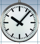 Edelstahl V4a Wanduhr, Aufputzuhr, Doppelseitige Uhr, Deckenbefestigung
