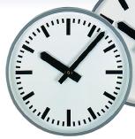 Wanduhr Innenuhr, Nebenuhr, runde Uhr, quadratische Uhr, Ballschutz, einseitige Uhr, doppelseitige Uhr, vierseitige Uhr, Schutzglas für Uhr, Ballschutz, Feuchtraumuhr, Funkuhr