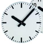 Wanduhr, Bürouhr, Plexglasuhr, weiße Uhr, Ballschutzuhr, quadratische Uhr, runde Uhr, 25cm Uhr, 30cm Uhr, 40cm Uhr, Funkuhr