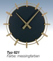 Wanduhr schwarz, Messingzeiger, Bürouhr, Designer Uhr, Modische Uhr, Schicke Uhr, Funkuhr, Quarzuhr