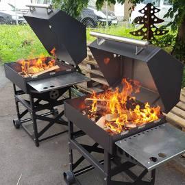 Z+M Grill mit Feuer