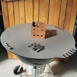 Grillplatte für Weber Grill, Aufsatz mit 3 Steckhaltern