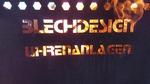 Feuerdom aus Cortenstahl mit Logo