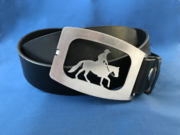 Gürtelschnalle Western, Pferd, Horse, Horserider, Westerneiter
