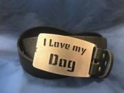 I LOVE MY DOG Gürtelschnalle, Gürtelschließe, Buckle, Wechselgürtelschnalle